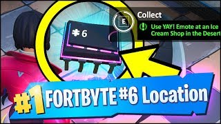 FORTBYTE #6 LOCATION FORTNITE - Use YAY! Emote at an Ice Cream Shop in the Desert