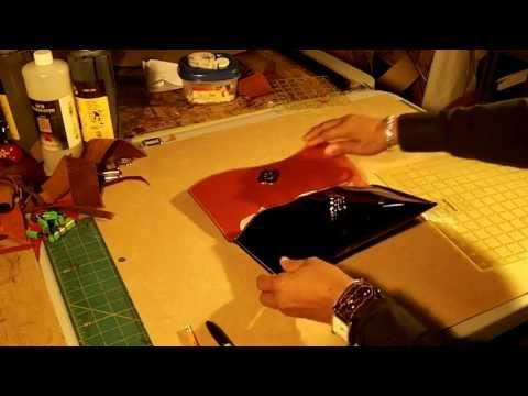 How To Make A Leather Clutch Bag Video Part 1 Of 5