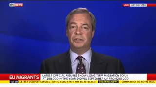 "Oh Schreck ! Auch er ein Retiloider ? Nigel Farage On EU Migration Proposals: ""Cameron's First Euro"