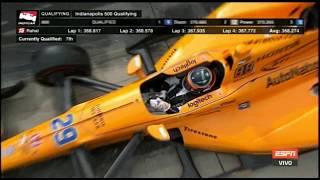 Clasificacion de Alonso Indy500 20/May/2017