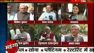 Opposition Reaction upon Union Budget 2012-13