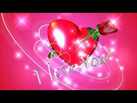 I love You Background video animation - YouTube