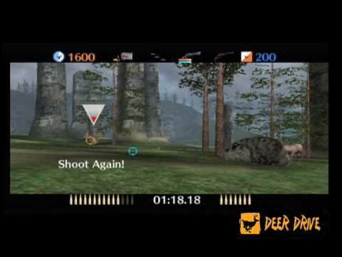 Multi player hunting video game Deer Drive shooting game Wii