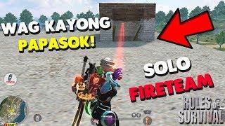 "SNIPER ON SA SOLO VS FIRETEAM ""17 KILLS""  (Rules of Survival: Battle Royale)"