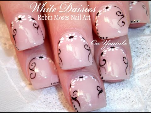 Nail Art For Beginners!!!   DIY Easy Daisy Design Tutorial