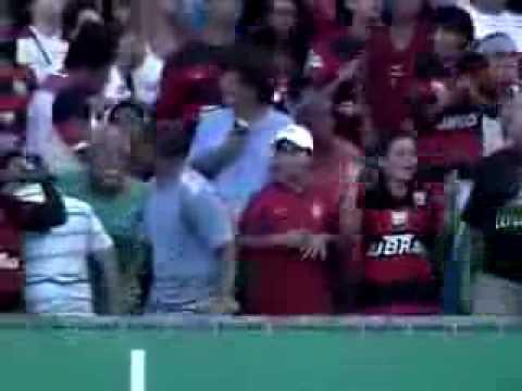 Gol Adriano flamengo 2 X 1 Atlético Paranaense Quarta Rodada