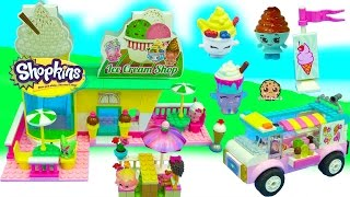 Surprise Blind Bag Customers Buy Ice Cream from Lego Friends Truck + Shopkins Shop