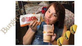 Burger Kings New Taco Review-Me Rambling (Mukbang)