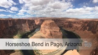 A glance at Horseshoe Bend in Page, Arizona