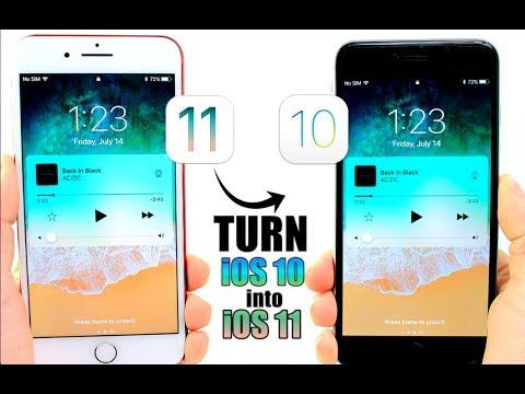 How to Get iOS 11 Looks & Features in iOS 10 Jailbreak