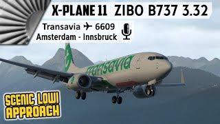 ZIBO MOD B737-800X v3.32 and X-Plane 11.30 Final   EHAM to LOWI