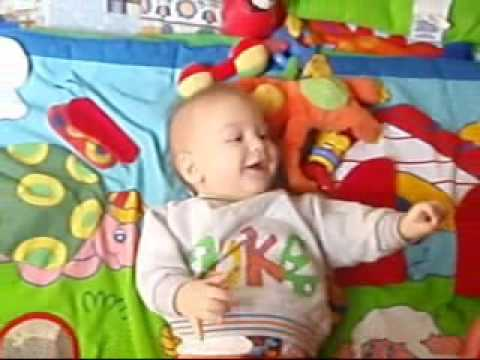 The baby boy who laughing when someone is sneezing Video