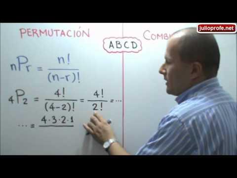 Diferencia entre Permutaciones y Combinaciones