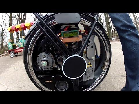 Самодельный гироцикл.Handmade gyroscooter.
