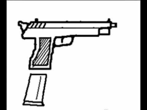 Como dibujar una pistola youtube - Como pintar dibujos en la pared ...