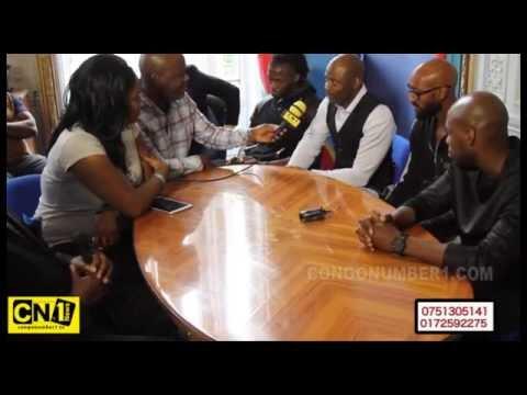 NICOLAS ANELKA et YOUSSOUF  MULUMBU EN CONFERENCE DE PRESSE AVANT LE DEPART POUR LA RDCONGO