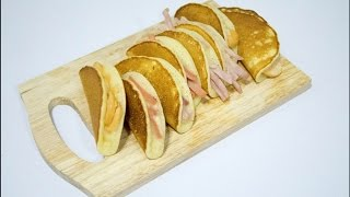 Lazy Kitchen::แพนเค้กพัฟ.How to::Pancake Puff