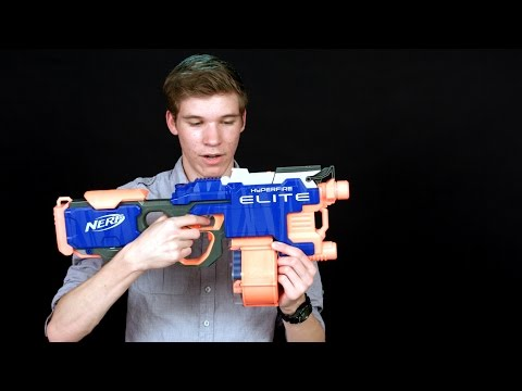 Nerf Elite Hyperfire Review and Shooting