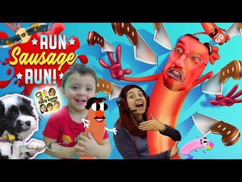 Run SAUSAGE RUN!! 🔪 Unicorn Food & Mr. Potato Head Dude ✂️ YEOUCH! (FGTEEV Funny Game w/ Shawn)