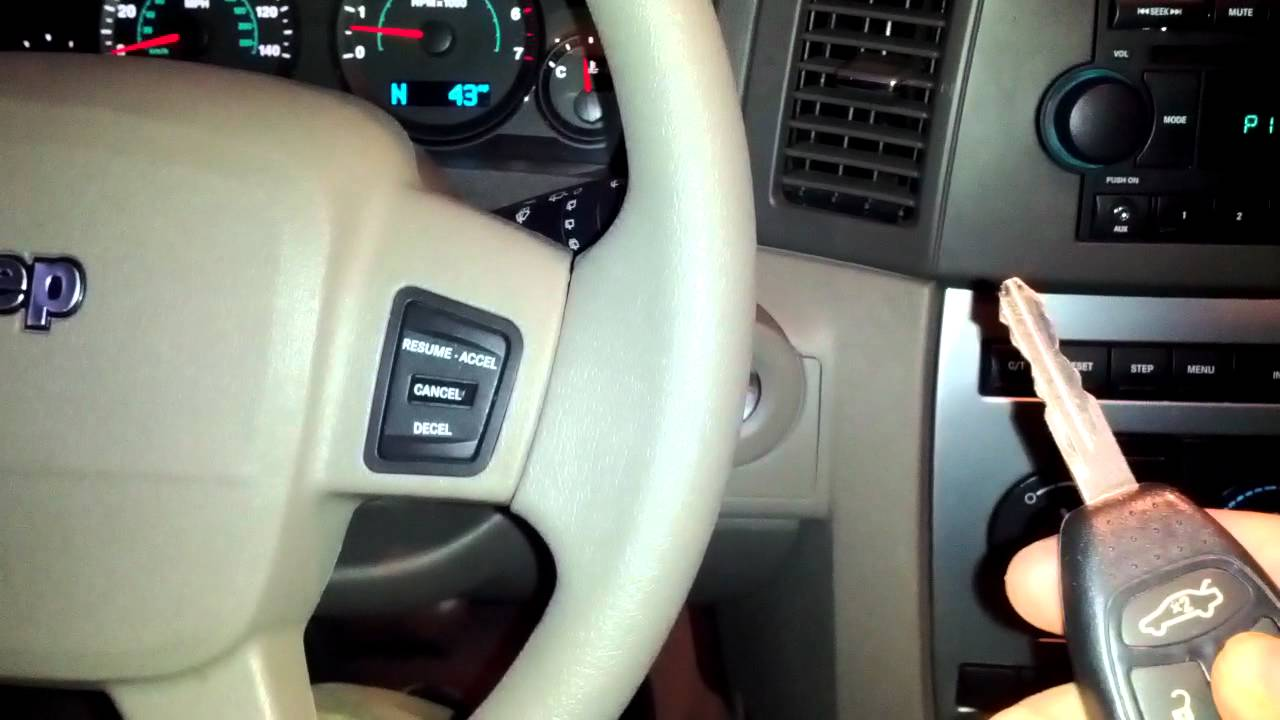 Jeep Grand Cherokee Laredo Hidden Remote Start Youtube