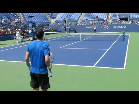 Andy Murray Practice at the 2014 Us Open