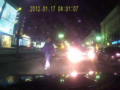 Авария в городе Курске 30 11 2013 года в 20 00 часов на пересечении ул.  Ленина и ул. Кирова