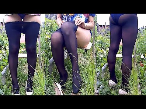 try on new black tights 50 den