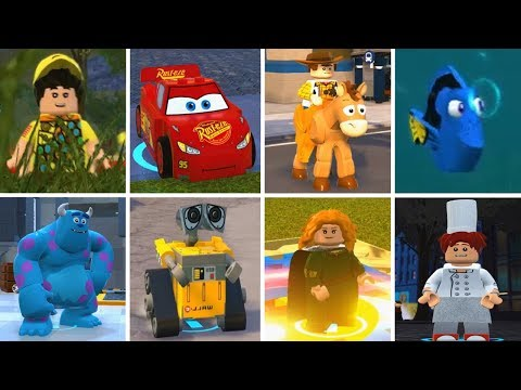 LEGO The Incredibles - All PIXAR Characters (Cars, Toy Story, Inside Out Etc.)