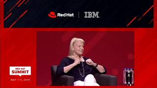 Tuesday afternoon general session - Jim Whitehurst-Ginni Rometty Q&A - May 7 - Red Hat Summit 2019