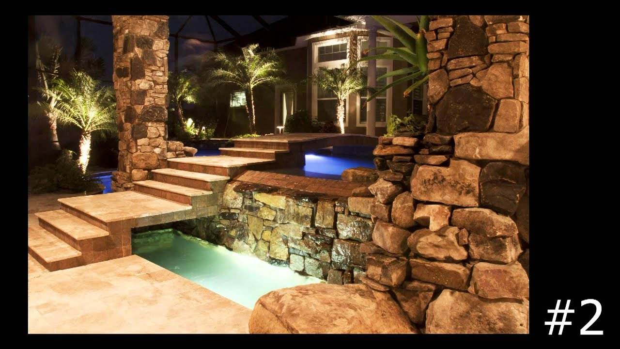 top 10 swimming pools with underwater lighting by lucas lagoons youtube. Black Bedroom Furniture Sets. Home Design Ideas