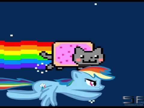 Nyan Cat And Rainbow Dash Nyan Cat vs Rainbow Dash