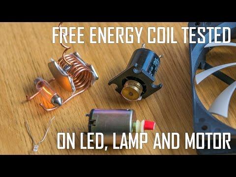 Free Energy Coil Powering LED, Lamp And Motors