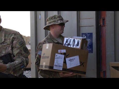 Afghanistan: le service postal des GIs plie bagages