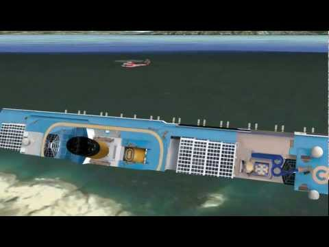 Costa Concordia 3D Google Earth Animation