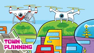 Drone delivery, self-driving cars, and the future of cities! (Agent Plan-It: Town Planning for Kids)