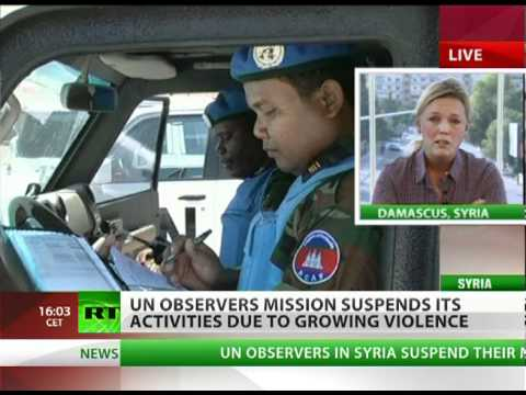 Under Threat: UN suspends Syria mission due to rising violence