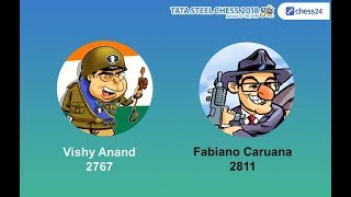 Anand - Caruana, Tata Steel Chess Round 3: Grandmaster Analysis