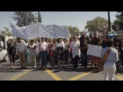South African Anti Xenophobia march to South African embassy in Namibia