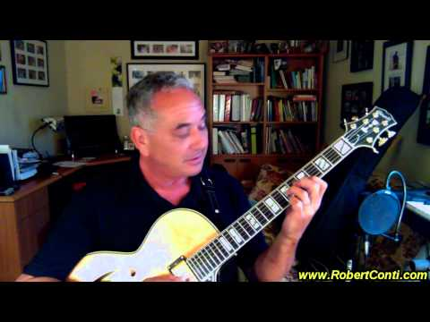 Bucky Harris Comments On His New Natural Blonde Conti Archtop Jazz Guitar