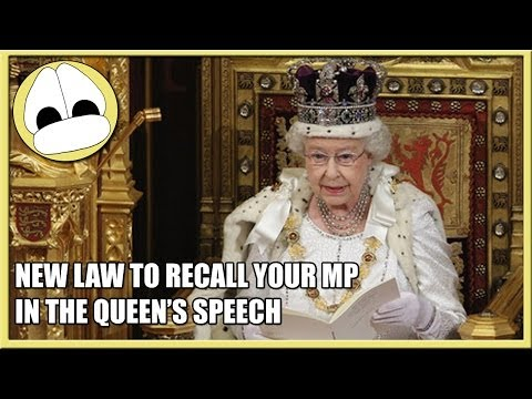 New Law to Recall Your MP in the Queen's Speech