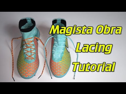 How To Replace The Laces On The Magista Obra - SR4U Laces Tutorial