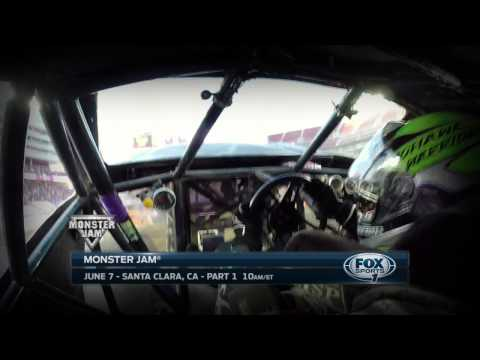 Monster Jam in Santa Clara on FOX Sport 1 - June 7, 2015