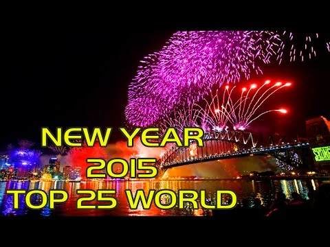 RECOPILATION FIREWORKS NEW YEAR 2015 Sidney, Tokio, Dubai, Madrid, Lisboa, Paris, Roma, New York...