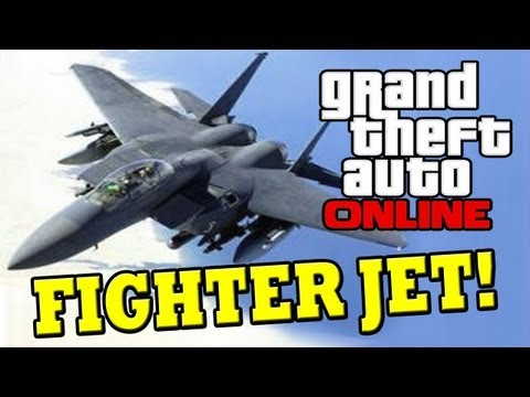 GTA 5 ONLINE: FIGHTER JET - F16 How to get the Fighter Jet