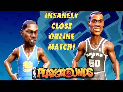 NBA Playgrounds - MY FIRST ONLINE MATCH! Insanely Close Online Gameplay! (NBA Playgrounds Xbox One)