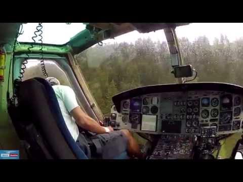 BELL 412 - Heli-Logging in the rain - Österreich - Heli Austria