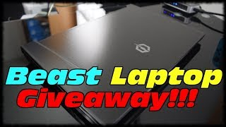 BEAST LAPTOP GIVEAWAY!!! CyberpowerPC Tracer 3 VR 400 Laptop Review & Demo!!!