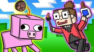 Minecraft Piggy Bank DIY - Crafts for Kids at Cool School!