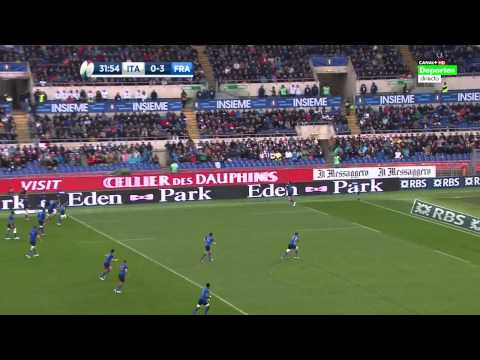 Rugby Union Six Nations 2015 Round 4 Italy vs France Full match