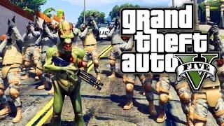 GTA 5 MODS - ALIEN ARMY INVASION! (GTA V PC Mods)
